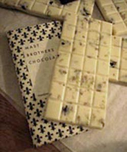 Masts' white chocolate bars (Ami Kealoha, Cool Hunting, February 2008)